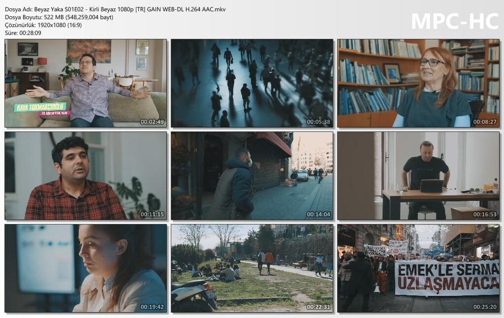 Beyaz Yaka S01E02 - Kirli Beyaz 1080p [TR] GAIN WEB-DL H.264 AAC