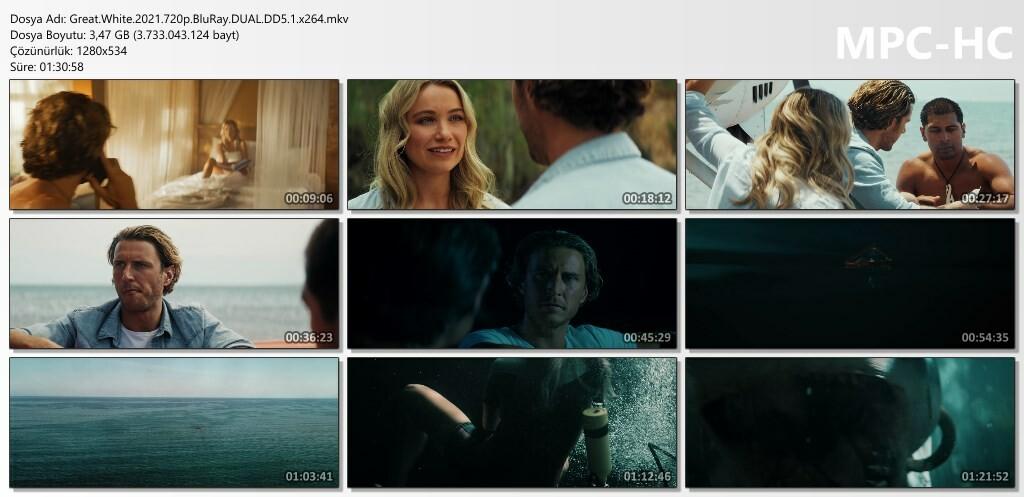 Beyaz Köpekbalığı - Great White (2021) 720p - 1080p BluRay DUAL DTS x264 Türkçe Dublaj