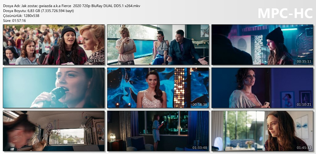 Jak zostac gwiazda a.k.a Fierce (2020) 1080p - 720p BluRay DUAL DD5.1 x264 Türkçe Dublaj